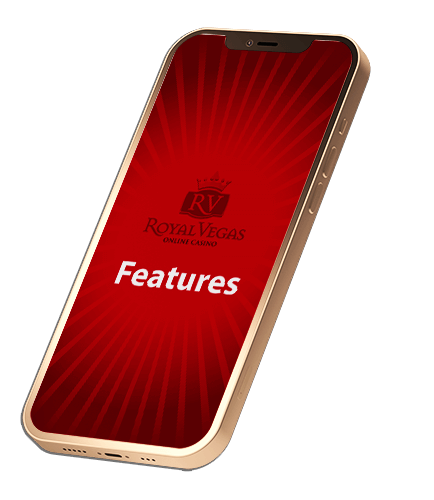 Features of Royal Vegas casino mobile app