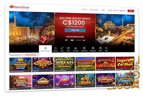 Homepage Royal Vegas Casino