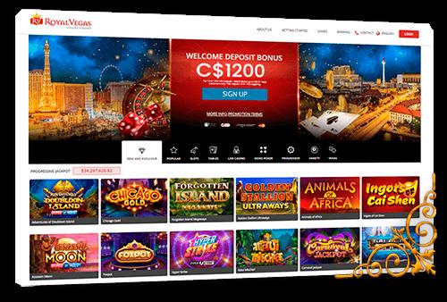 Royal Vegas Casino homepage